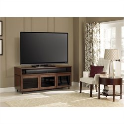 Wood Home Entertainment Cabinet in Cocoa Finish
