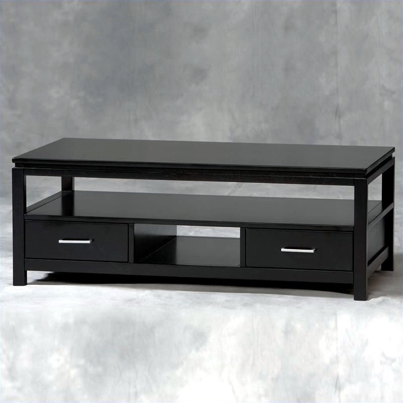 2 Piece Coffee and End Table Set in Black