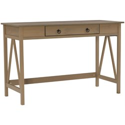 Linon Titian Writing Desk in Rustic Gray