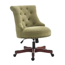 Linon Sinclair Armless Upholstered Office Chair