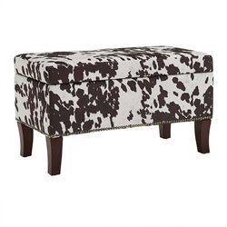 Stephanie Udder Madness Fabric Ottoman Bench