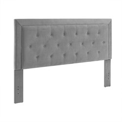 Clayton Dove Fabric Upholstered Full Queen Headboard in Gray