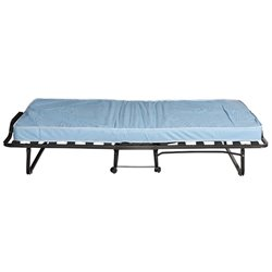 Linon Lyford Twin Folding Bed in Blue