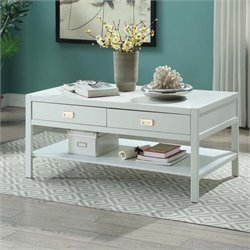 Linon Peggy Storage Coffee Table in White