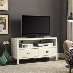 Linon Peggy TV Stand in White