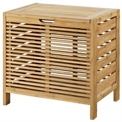 Linon Bracken Bamboo Hamper in Natural