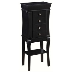 Linon Sydney Jewelry Armoire in Black