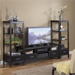 Plasma Center TV Stand and Towers Set