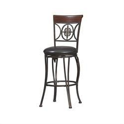 Fleur De Lis 30 Inch Bar Stool in Dark Antique Brown