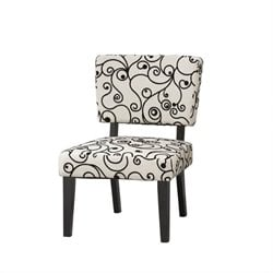 Linon Taylor Accent Chair with Black and White Circles