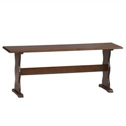 Kitchen Dining Nook Bench in Walnut
