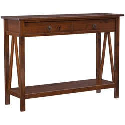 Linon Titian Console Table in Antique Tobacco