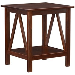 Linon Titian End Table in Antique Tobacco