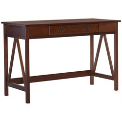 Linon Titian Writing Desk in Antique Tobacco