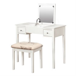 Set with White Butterfly Bench in White