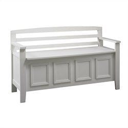 Storage Bench in White