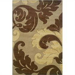 Rugs Kids Area Rug in Tan and Brown