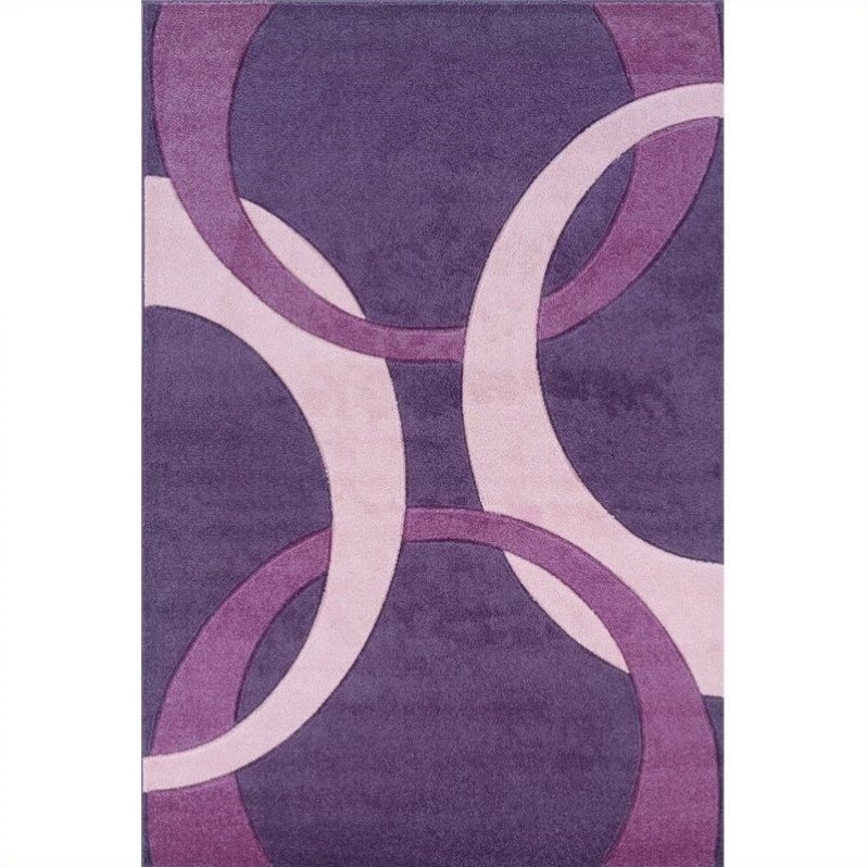 Rugs Kids Area Rug in Purple and Baby Pink