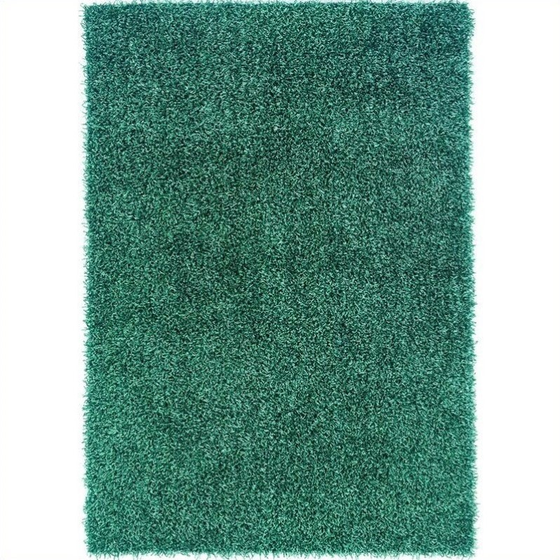 Rugs Rectangular Area Rug in Turquoise