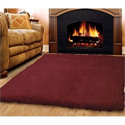 Rugs Rectangular Area Rug in Burgundy