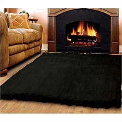Rugs Rectangular Area Rug in Black