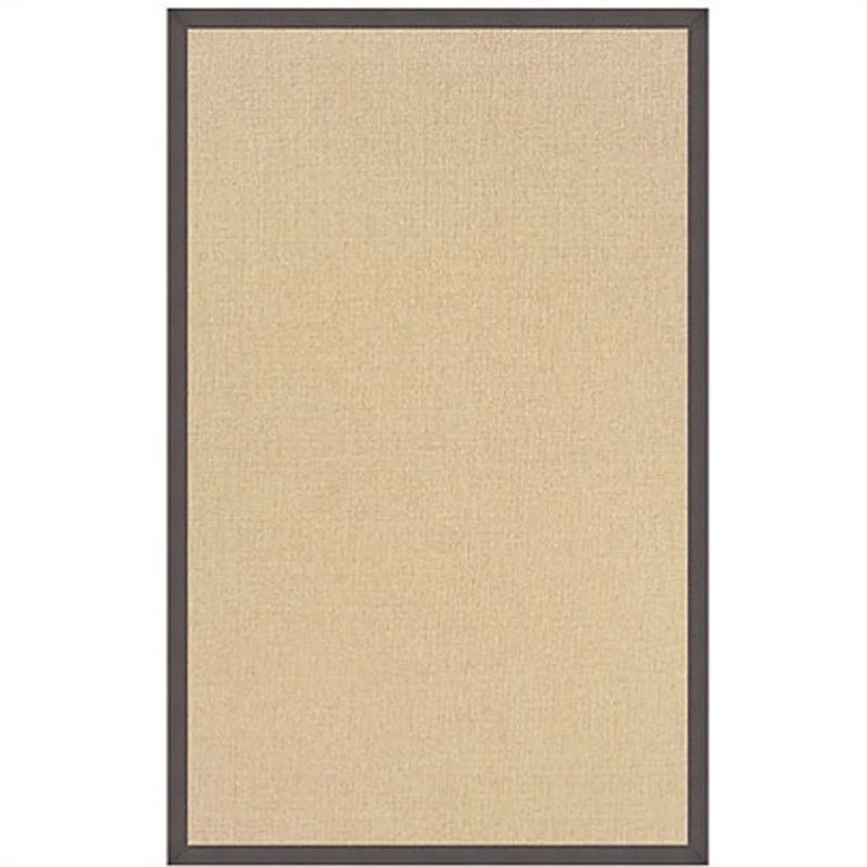Cotton Rug in Natural and Slate