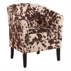 Barrel Chair in Udder Madness Animal Print