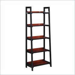 Five Shelf Bookcase in Black Cherry