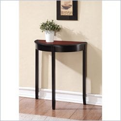 Demi Lune Console Table in Black Cherry