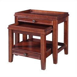 Nesting Tables in Cherry Finish (2 Pieces)
