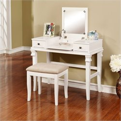 Vanity Set in White (2 Pieces)