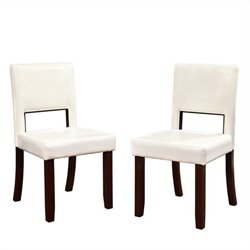 Dining Chairs in White (Set of 2)