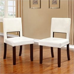 Linon Vega Dining Chairs in White (Set of 2)