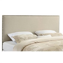 Linon Contempo King Panel Headboard in Natural