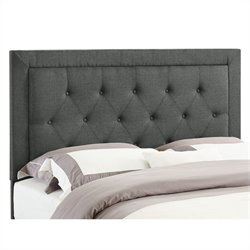 Full/Queen Tufted Panel Headboard in Gray