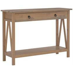 Linon Titian Console Table in Rustic Gray