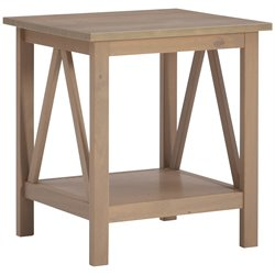 Linon Titian End Table in Rustic Gray
