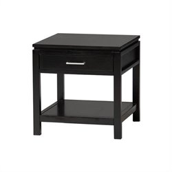 Black Wood End Table