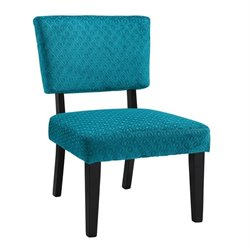 Linon Taylor Accent Chair in Teal Blue