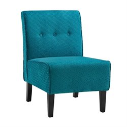 Linon Coco Accent Chair in Teal Blue