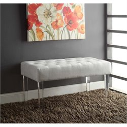 Living Room Bench in White