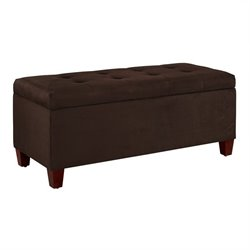 Shoe Storage Ottoman in Dark Brown