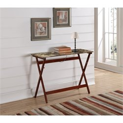 Buffet Tray Table in Faux Tile