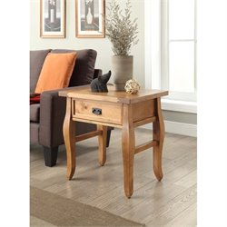 Rectangualr End Table in Antique Brown