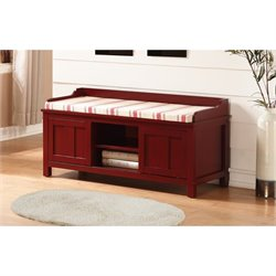 Entryway Storage Bench in Red