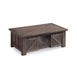 Magnussen Garrett Lift-Top Coffee Table in Weathered Charcoal