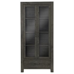 Magnussen Abington Curio Cabinet in Weathered Charcoal