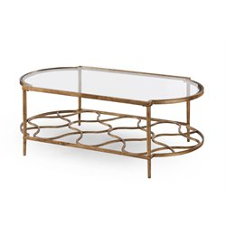 Magnussen Bancroft Coffee Table in Gold Leaf