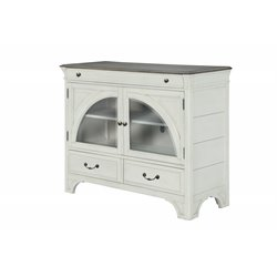 Magnussen Hancock Park Media Chest in Vintage White and Weathered Oak