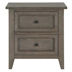 Magnussen Talbot 2 Drawer Nightstand in Driftwood